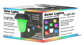 Color Changing Solar Light Box